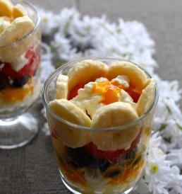 Frokost med cottage cheese og mango puré