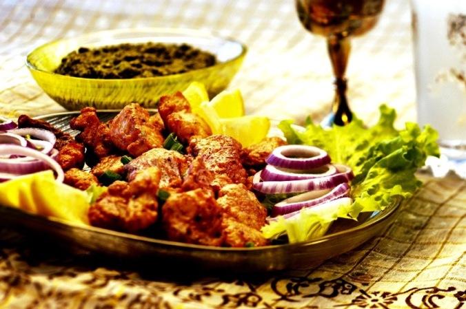 Chicken tikka_ fish pakora